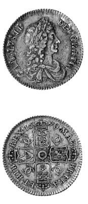 Charles II, Shilling, 1670, si