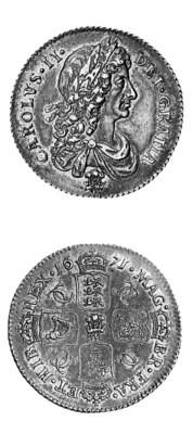 Charles II, Shilling, 1671, wi