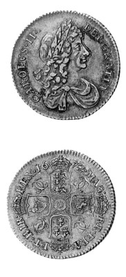 Charles II, Shilling, 1672, si