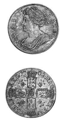 Anne, Shilling, 1702, similar