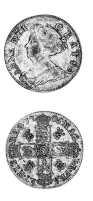 Anne, Shilling, 1705, similar
