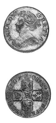Anne, Shilling, 1708, similar
