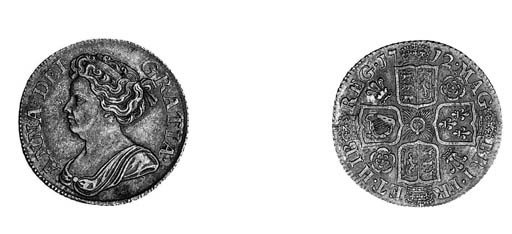 Anne, Shilling, 1712, similar