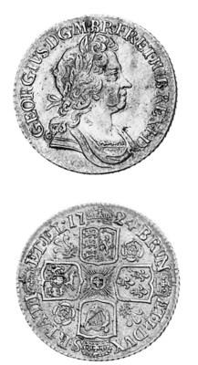 George I, Shilling, 1724, seco