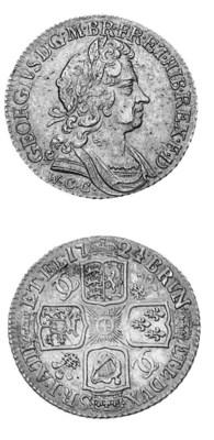 George I, Shilling, 1724 WCC,