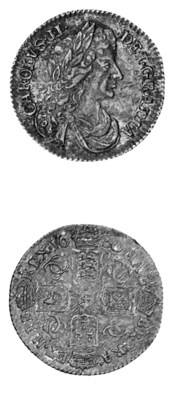 Charles II, Sixpence, 1680, si