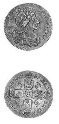 Charles II, Sixpence, 1681, si