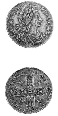 Charles II, Sixpence, 1683, si