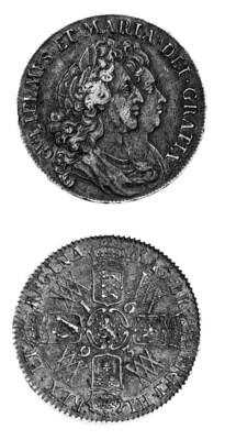 William & Mary, Halfcrown, 169