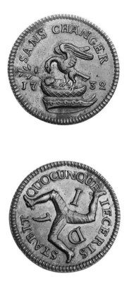 Penny, 1732, 8.52g, similar to