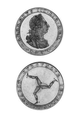 Bronzed proof penny, 1798, sim