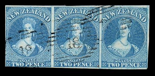 used  -- 2d. blue strip of thr