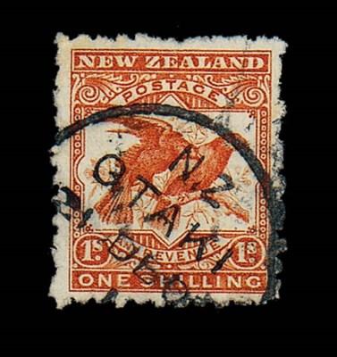 used  1/- orange-red, error wa