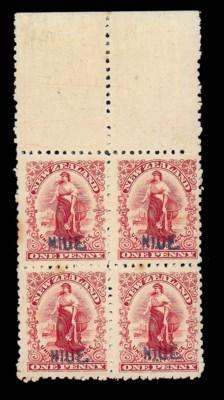 unused Block of Four  1902 (Ja
