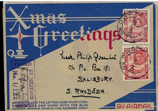 Air Mail cover 1943 (10 Dec.)