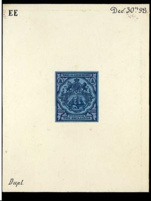 essay  2/- printed in blue in