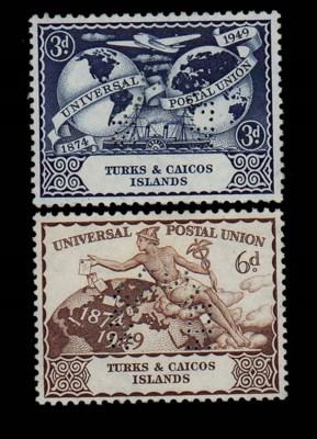Specimen  1949 UPU 3d. and 6d.