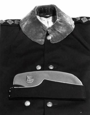 An Officer's Cloak and Cap of