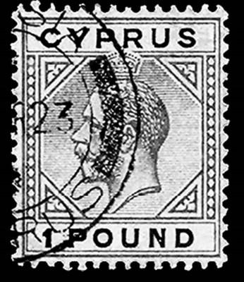 1921, £1 Violet & Black on red