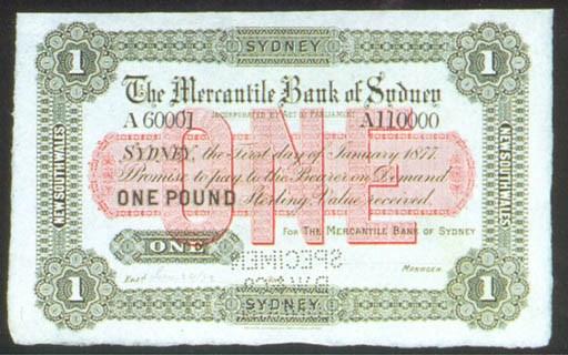 Mercantile Bank of Sydney, spe