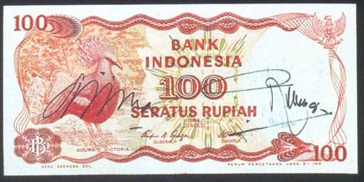 Bank of Indonesia 100 rupiah,