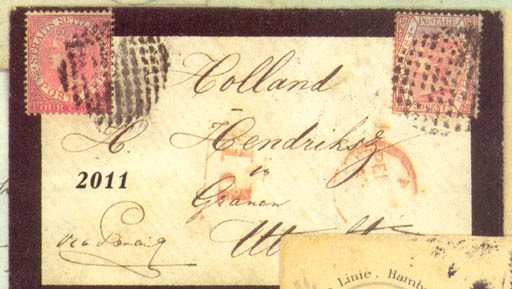 cover 1875 mourning envelope (