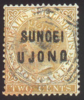 used  1881 Straits 2c. brown o