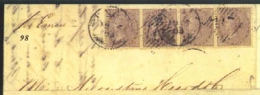 cover 1863 (6 Aug.) entire ex
