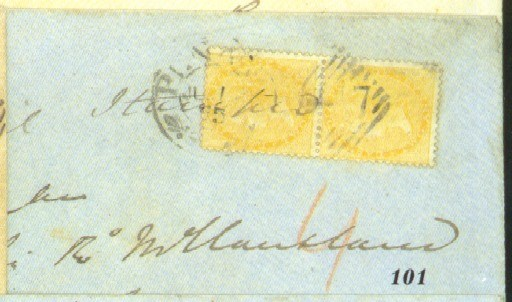 cover 1865 (July) envelope to