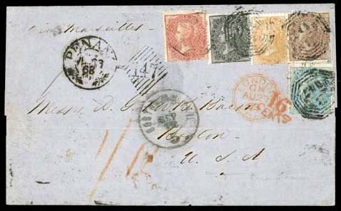 cover 1863 (23 July) entire to