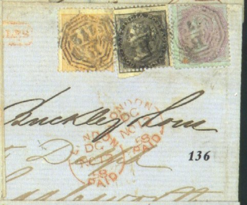 cover 1858 (30 Sept.) entire l