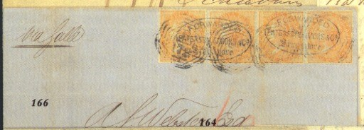 cover 1866 (1 Nov.) entire let