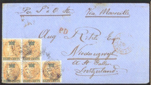 cover 1867 (22 Nov.) envelope