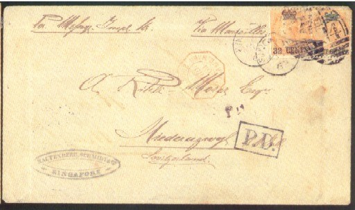 cover 1869 (6 Mar.) envelope e
