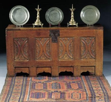 A Franco-Flemish oak chest