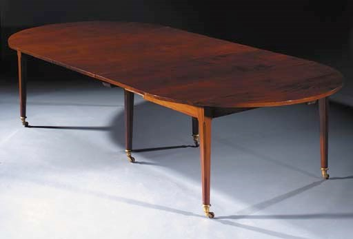 A Louis XVI mahogany extending