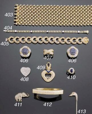 AN 18K WHITE-GOLD AND DIAMOND