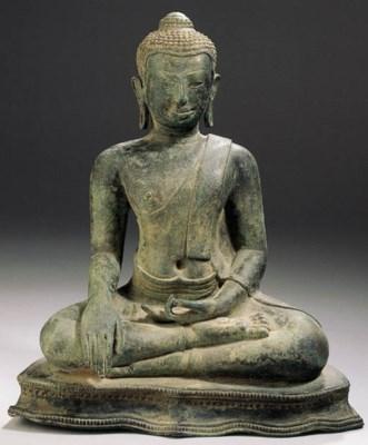 a thai, u thong style, bronze