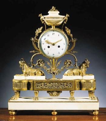 A Louis XVI ormolu and white-m