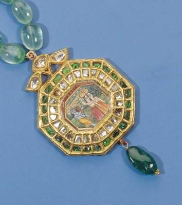 an indian emerald necklace pen