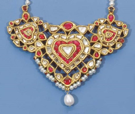 an indian diamond and ruby nec