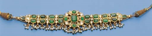 an indian emerald and pearl be