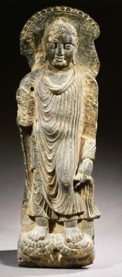 a gandhara schist figure of bu