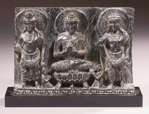 a gandhara black polished ston