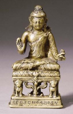 a kashmir bronze figure of bud