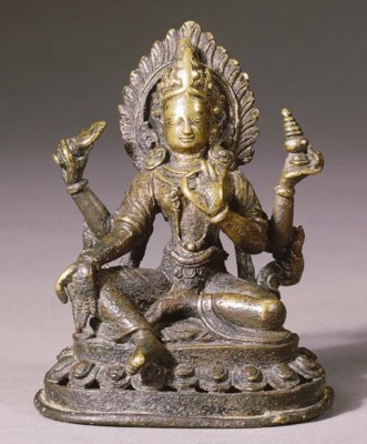 a nepalese copper figure of ya