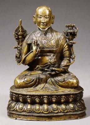 a rare tibetan bronze figure o