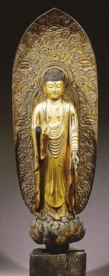 a japanese, edo period, wood f