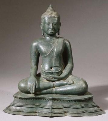 a thai, lopburi style, bronze