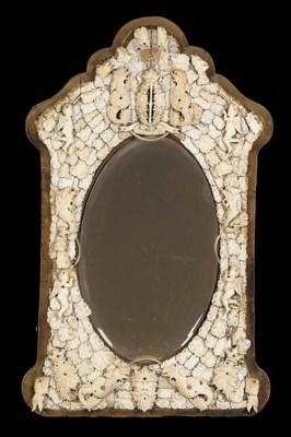 A Napoleon III ivory mirror